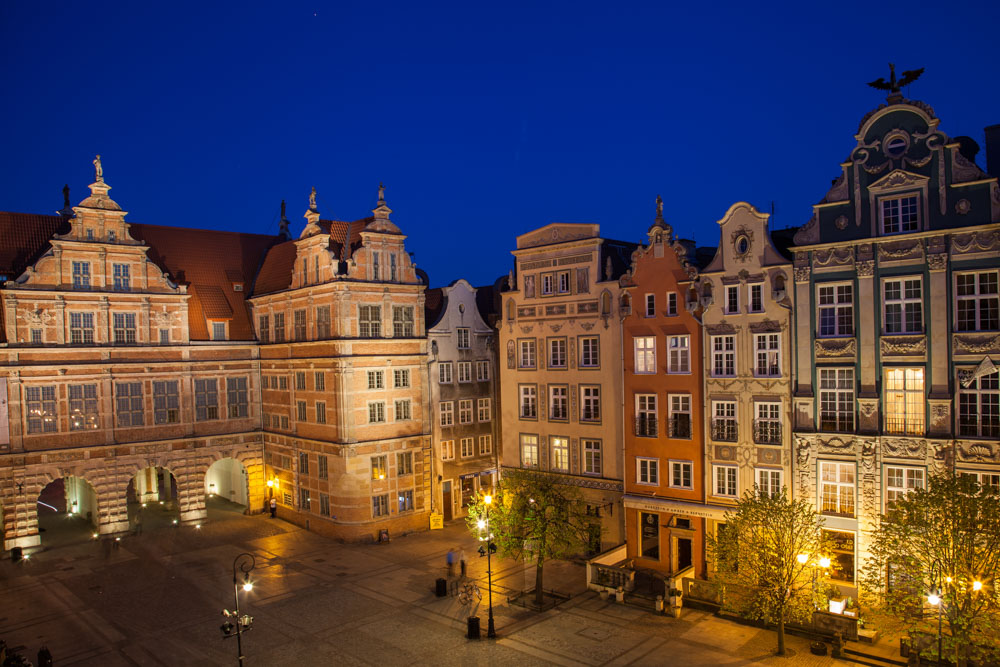 Night in Gdansk. Photo: John Einar Sandvand