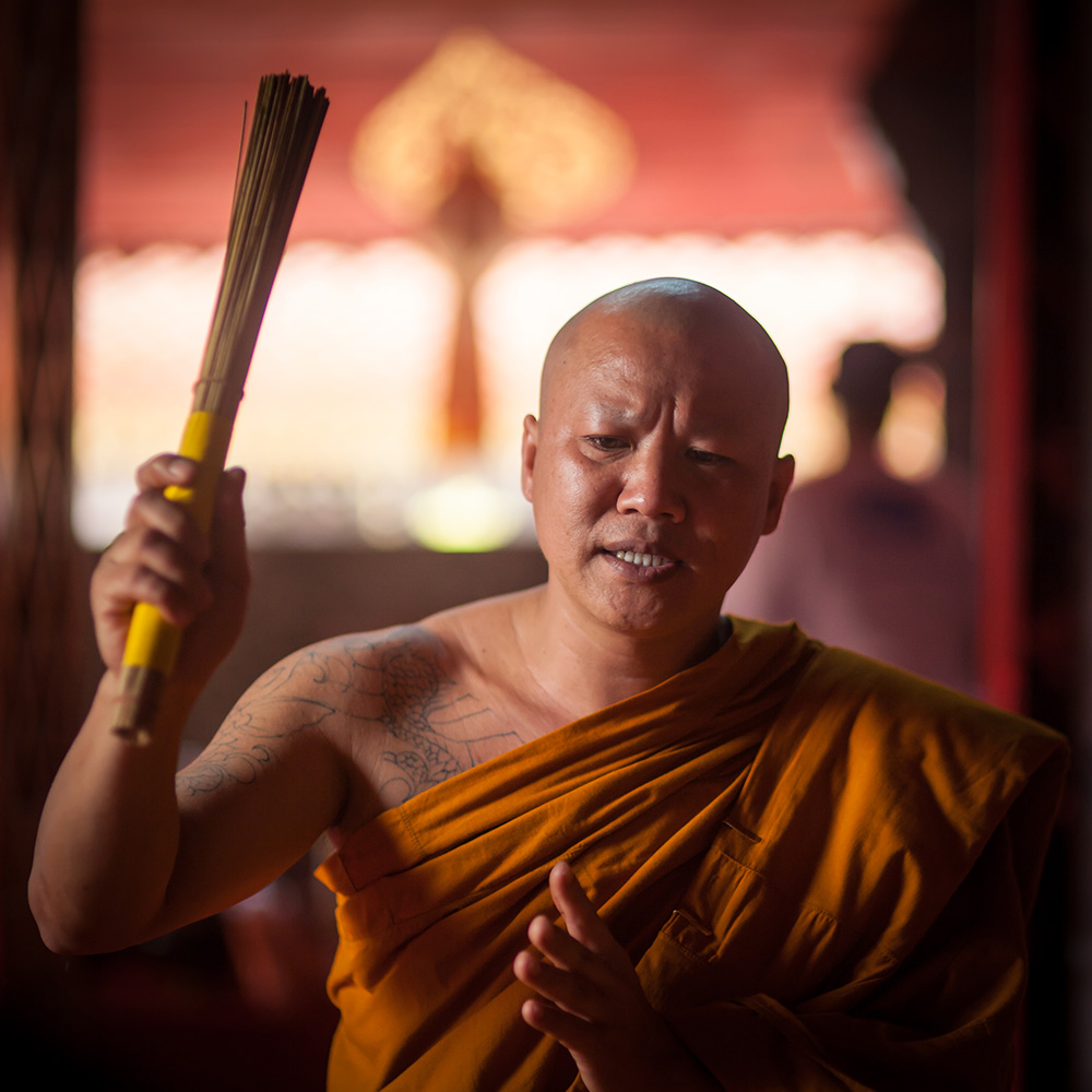 A monk performing a ceremony in Chiang Mai. Photo: John Einar Sandvand