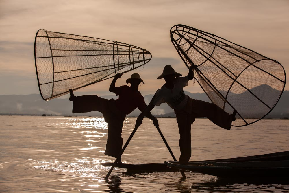 Fishers at Inle lake, Myanmar. Photo: John Einar Sandvand