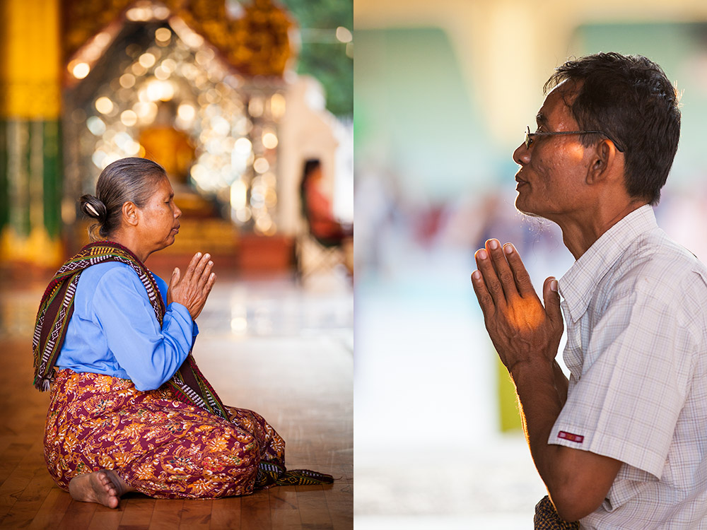 Many people come to Shwedagon to pray. Photo: John Einar Sandvand