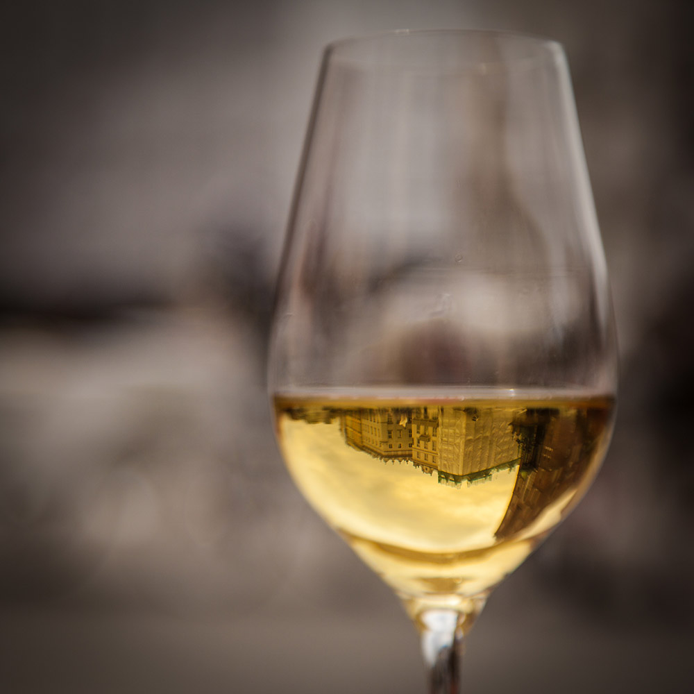 Krakow´s Market Square - photographed through a glass of delicious white wine. Photo: John Einar Sandvand
