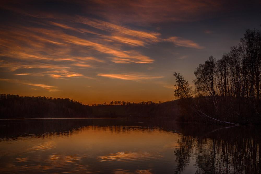 Sunset at Årungen. Photo: John Einar Sandvand