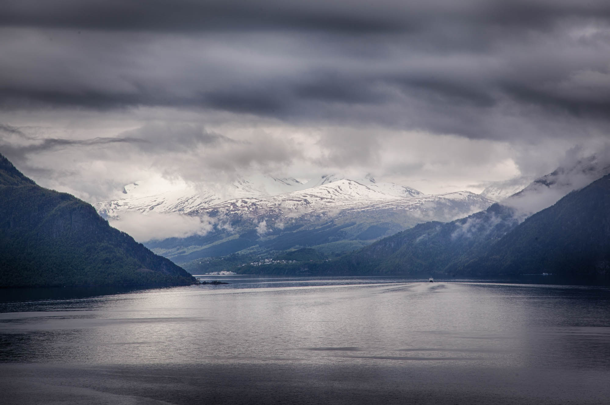 The Hardanger fjord in bad weather. Photo: John Einar Sandvand