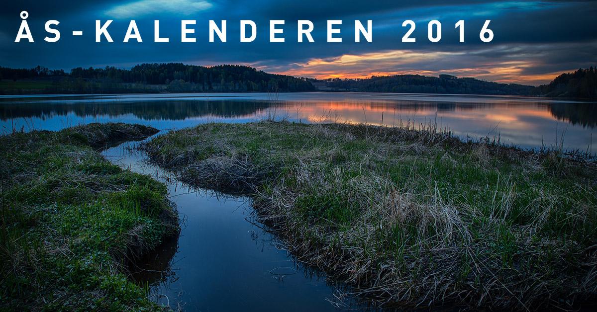 Fotokalender fra Ås: Ås-kalenderen 2016 med foto av John Einar Sandvand
